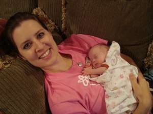 There is no better place to be than on a comfy couch with a sleeping baby on your chest.